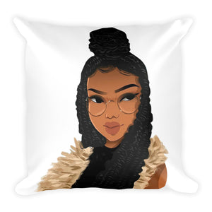 Natural Hair-Locs And Braids Square Pillow