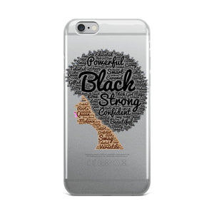 Afro natural hair black strong iPhone Case