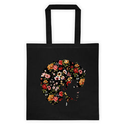 Afro Natural Hair Flower Tote bag