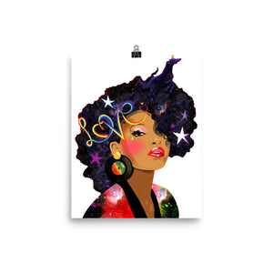 Afro Natural Hair Love Poster