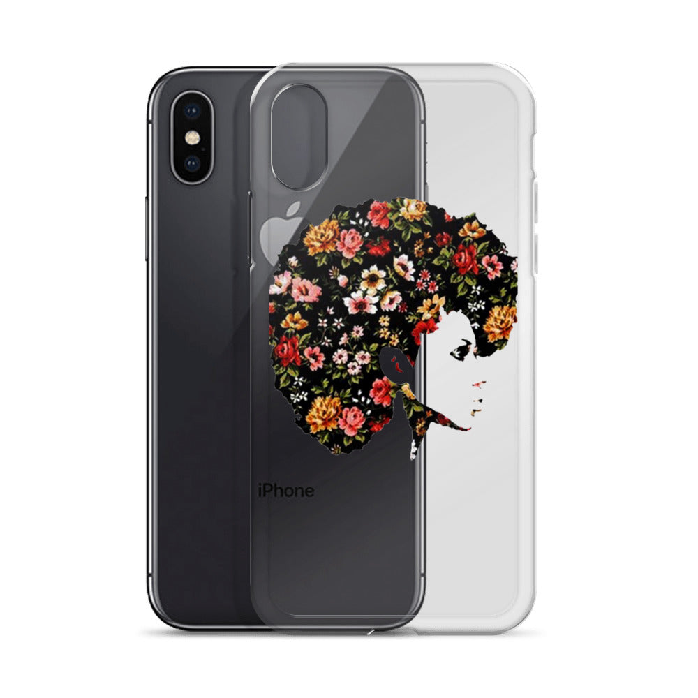 Afro Natural Hair Flower iPhone Case