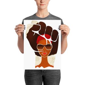 Afro Natural Girl Are Strong Poster