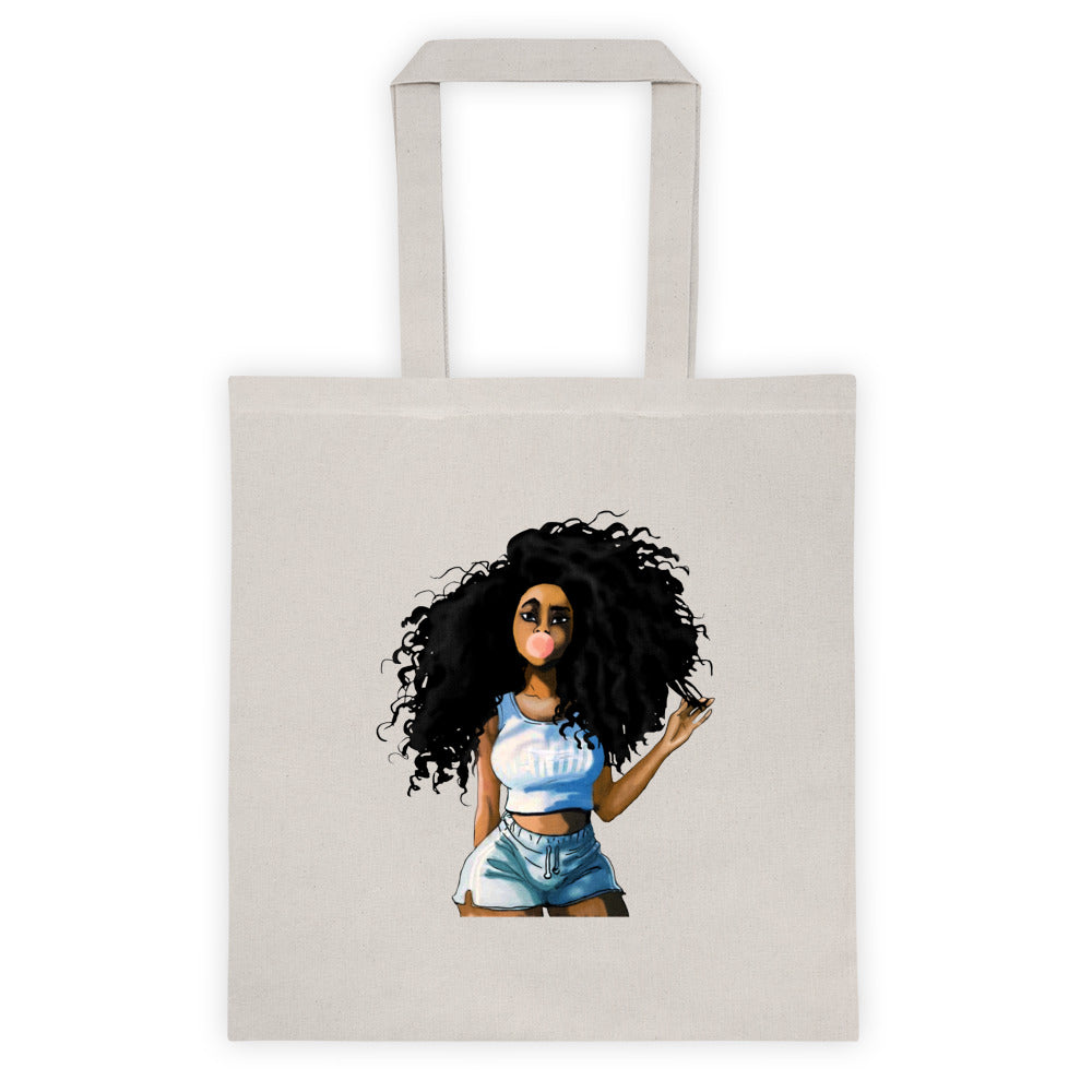 Afro Natural Hair-curly Girl Tote bag