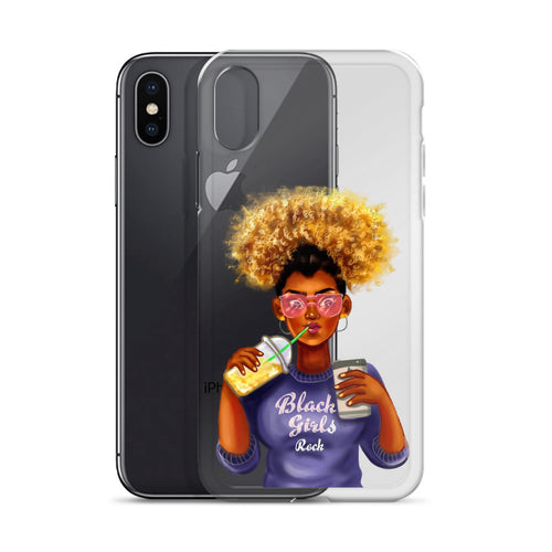 Afro Black Girls Rock iPhone Case