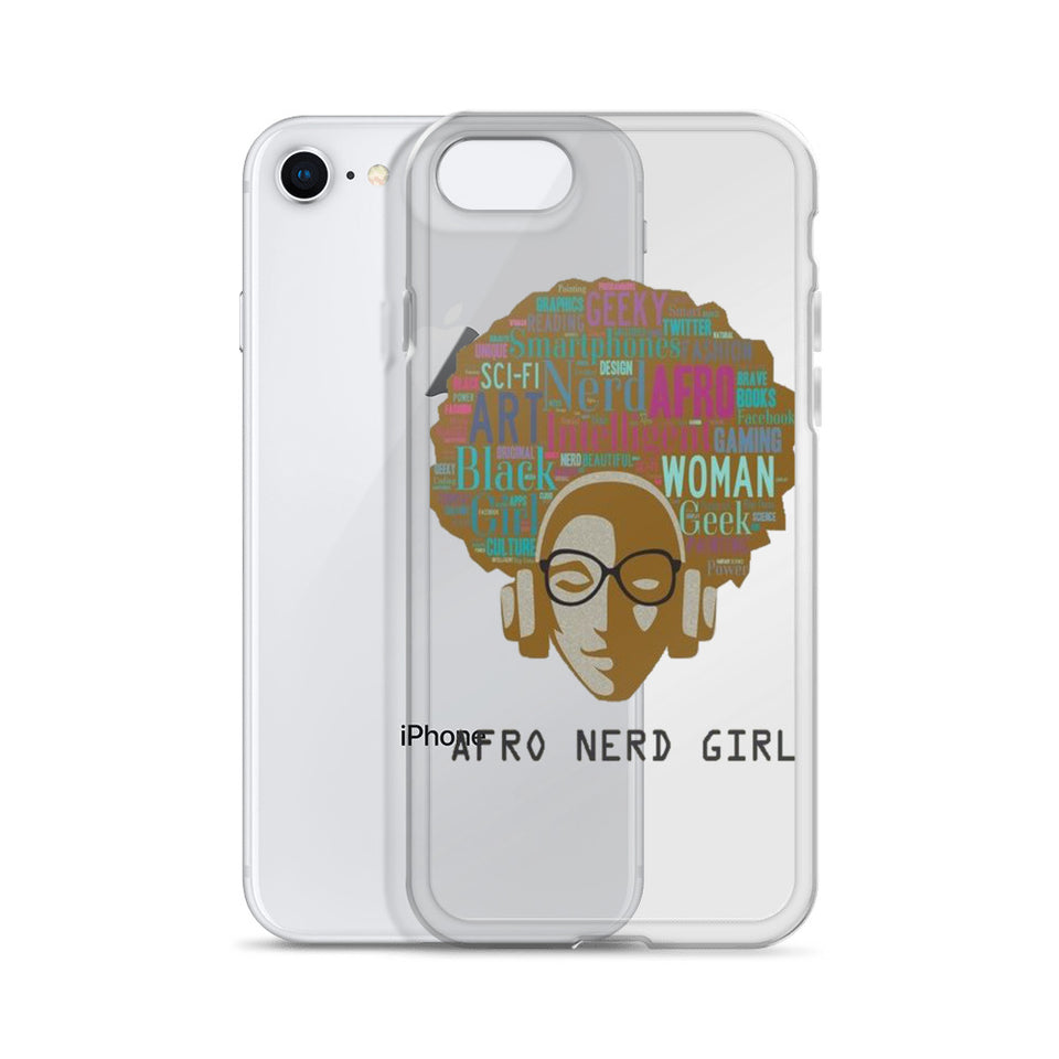 Afro Nerd Girl iPhone Case
