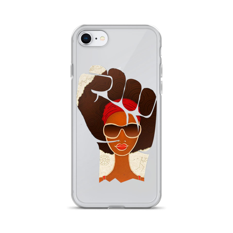 Afro Natural Girl Are Strong  iPhone Case