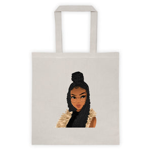 Afro Natural Hair-Locs And Braids Tote bag