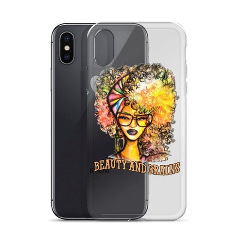 Natural Beauty And Brains iPhone Case