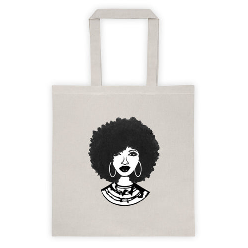 Afro Natural Hair Black Beautiful Tote bag