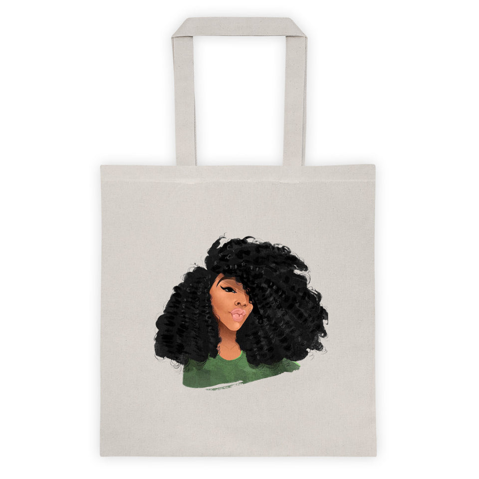 Afro Natural Hair-Curls Tote bag