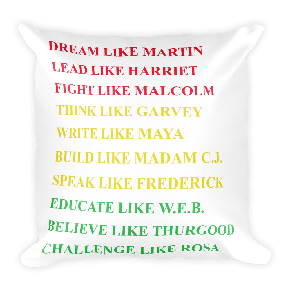 Deam Like Martin Square Pillow