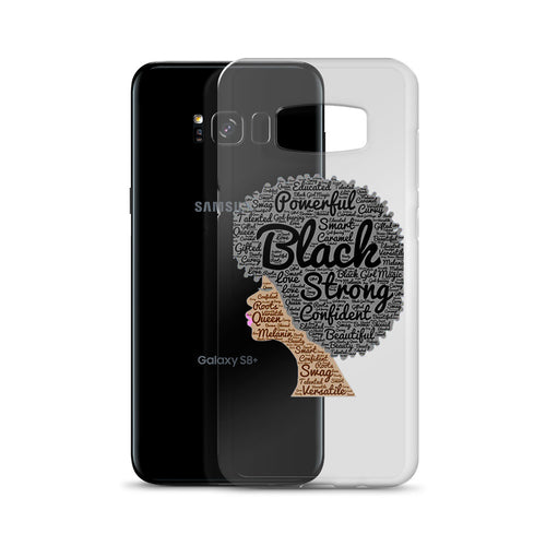 Afro natural hair black strong Samsung Case
