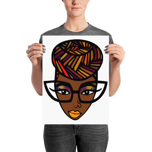 Natural Hair Headwrap Poster