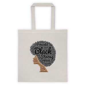 Afro natural hair black strong Tote bag
