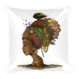 Black Africa Natural Square Pillow