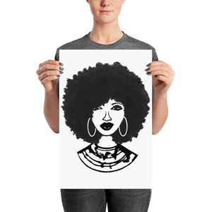 Afro Natural Hair Black Beautiful Poster