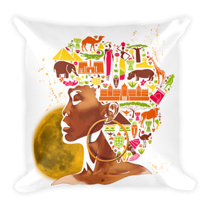 African women Black Month History Square Pillow