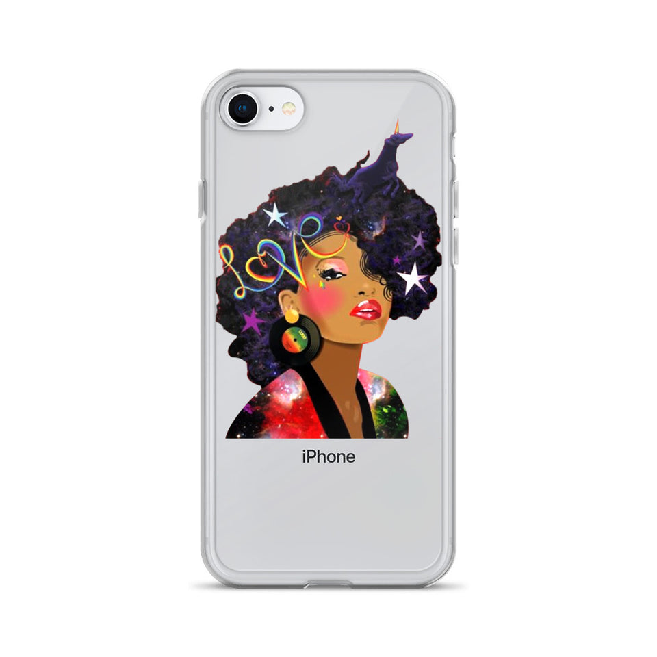 Afro Natural Hair Love iPhone Case