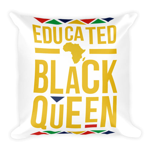 Educated Black history Queen Square Pillow