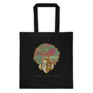 Afro Nerd Girl Tote bag