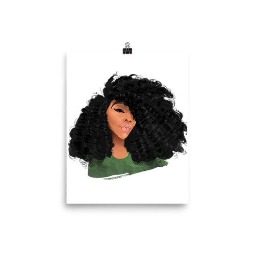 Afro Natural Hair-Curls Poster