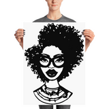 Afro Natural Hair-Kinky Poster