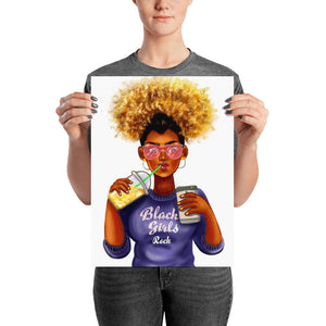 Afro Black Girls Rock Poster