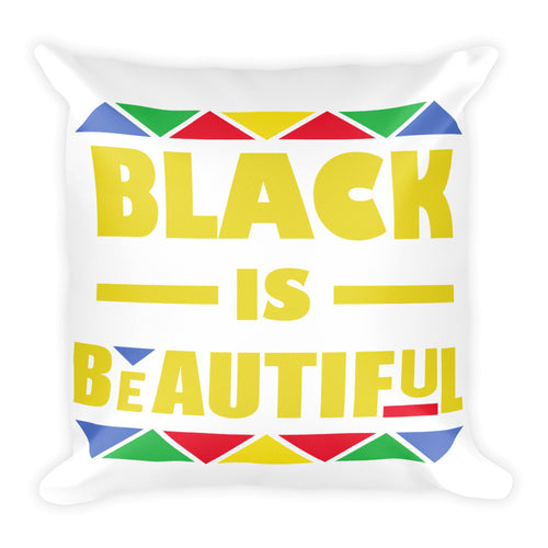 Black is Beautiful Square Pillow