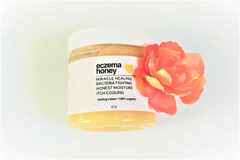 image for eczema honey healing cream that is meant for healing and soothing the skin