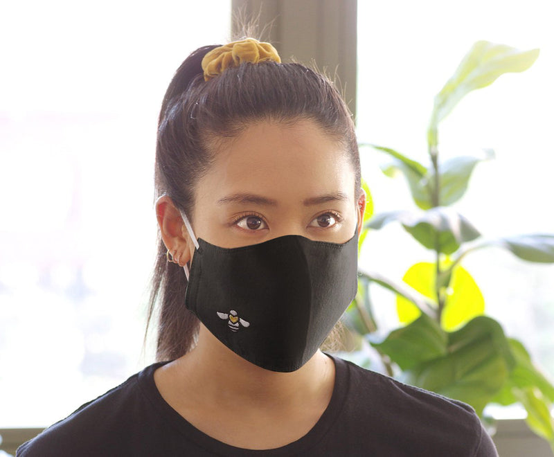 Black Reusable and Washable Face Covering