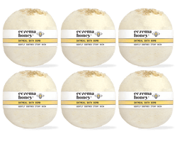 Eczema Honey Oatmeal Bath Bomb, Set of 6