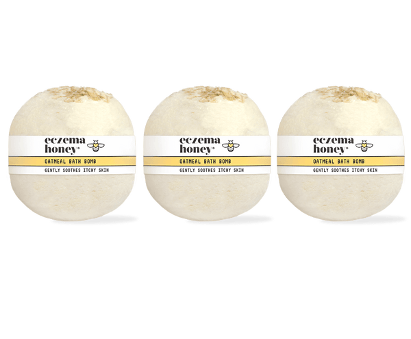 Eczema Honey Oatmeal Bath Bomb, Set of 3 Subscription