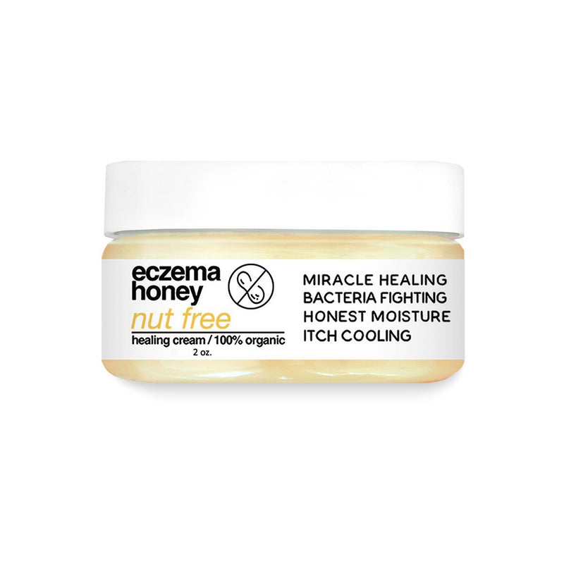 Nut-Free Eczema Honey Natural Healing Cream (2oz) - Made With 100% Organic Pure Honey & Beeswax