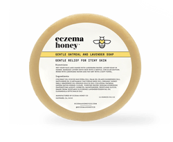 Eczema Honey Gentle Oatmeal and Lavender Soap - Made With 100% Organic Pure Honey & Beeswax
