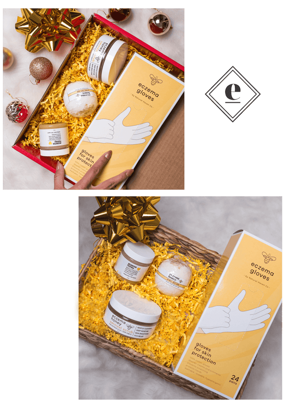 Eczema Honey Holiday Gift Bundle Set - Made With 100% Organic Pure Honey & Beeswax