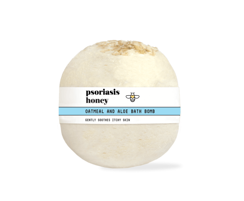 Psoriasis Honey Oatmeal and Aloe Bath Bomb
