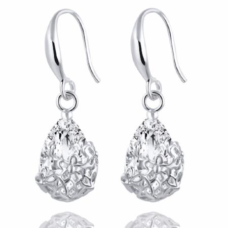 Romantic Crystal Dangle Drop Earrings