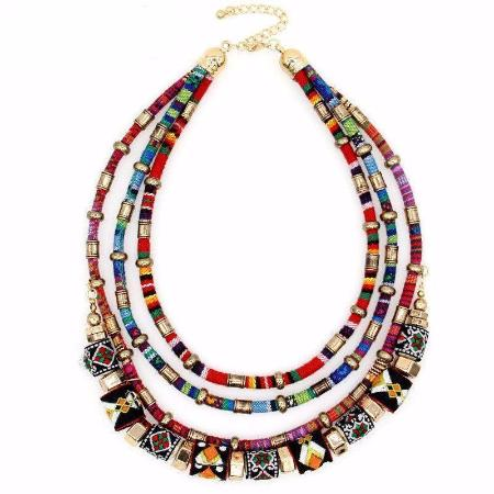 Women's Handmade Multilayer Boho Statement Necklace