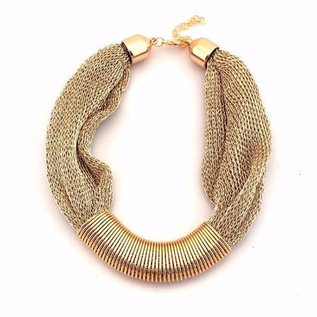 Women's Fashion Chunky Rope Statement Necklace