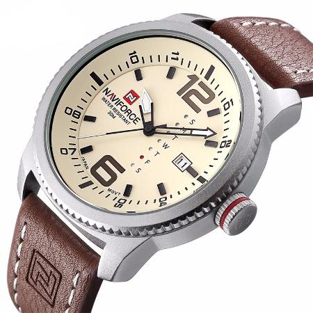 Mens Quartz Sport Military Stainless Steel Dial Wrist Watch