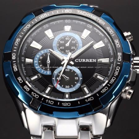 Mens High Quality Stainless Steel Quartz Waterproof Wrist Watch