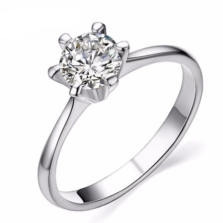 1ct Cubic Zirconia Solitaire Classic Wedding Ring