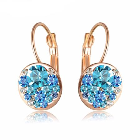 Rose Gold Crystal Fashion Stud Earrings
