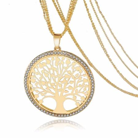 Tree Of Life Multilayer Crystal Pendant Necklace 5 Styles Available