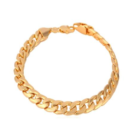 Mens 7mm Cuban Link Bracelet