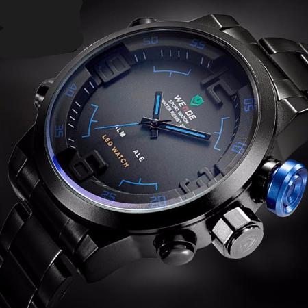 Mens Quartz Stainless Steel Led Analog Watch 6 Colors Available