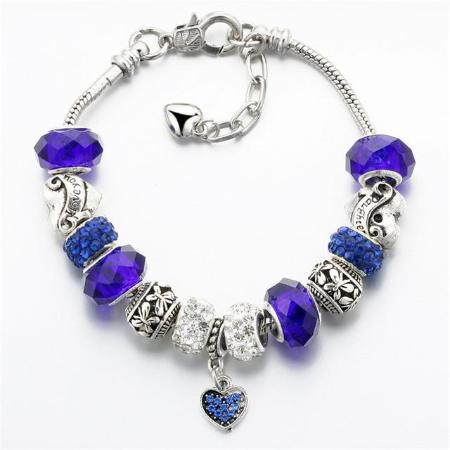 New 2018 Women's Crystal Heart Beaded Bracelet 4 Colors Available