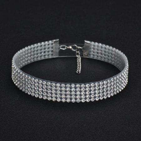 Elegant and Stylish Crystal Rhinestone Choker Necklace