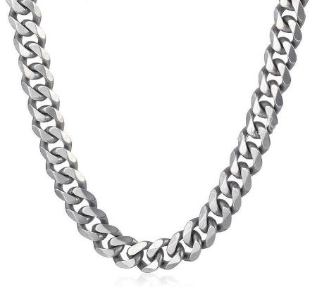Mens Stainless Steel Cuban Link Necklace Chain