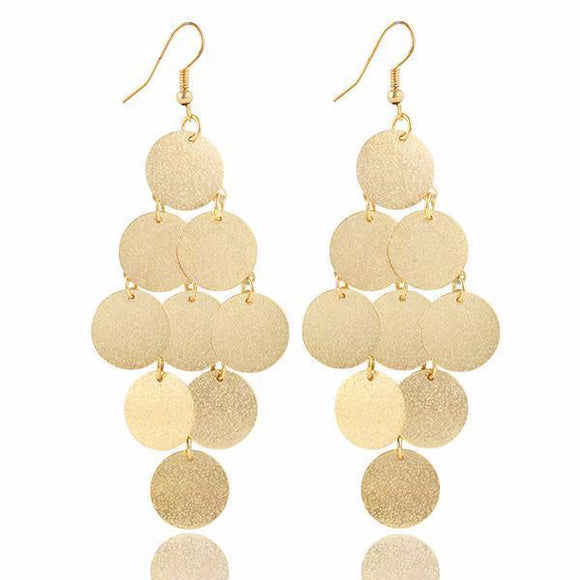 Oval Chandelier Dangle Drop Earrings
